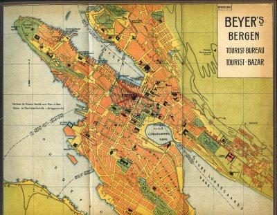 Kart over Bergen