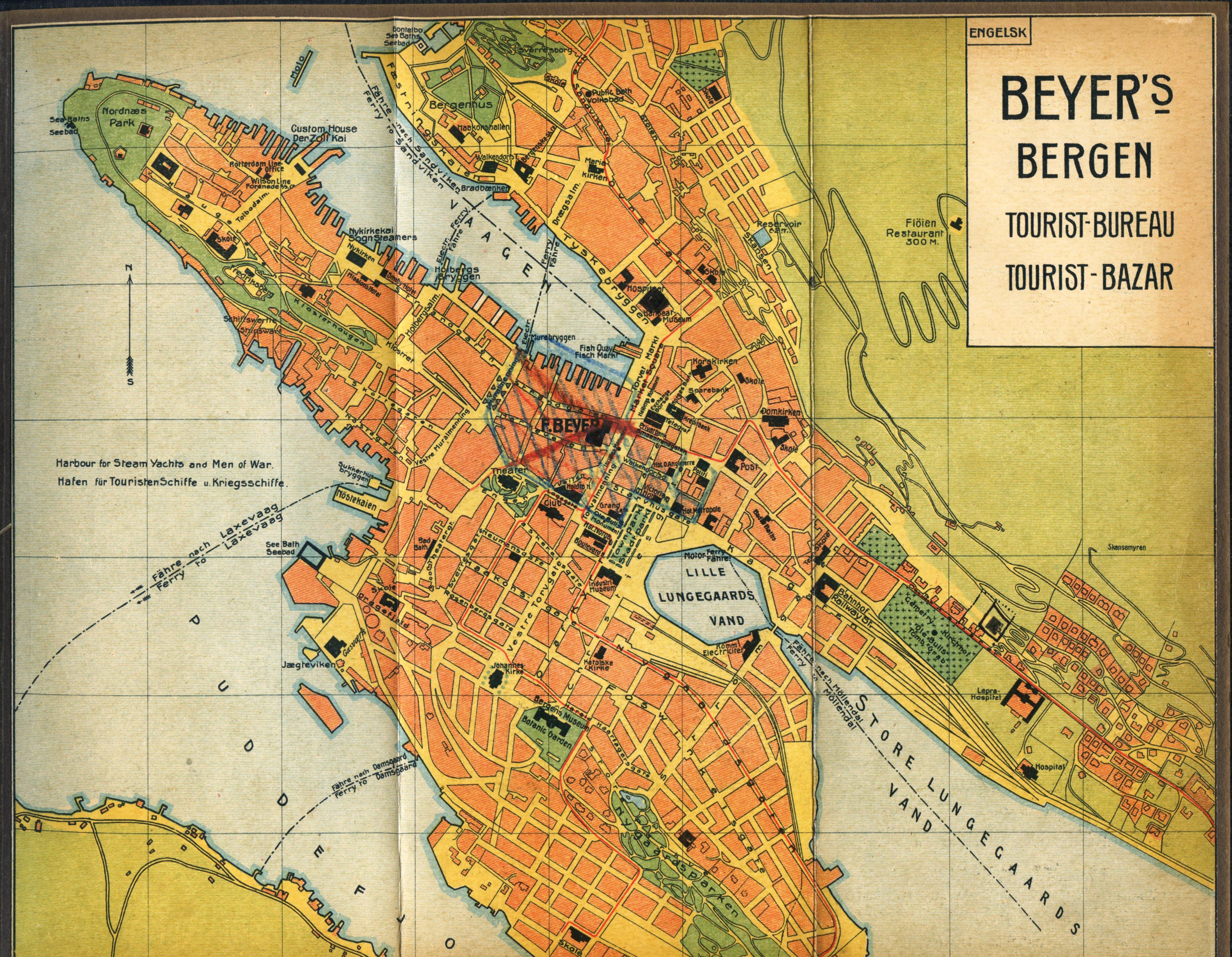 Fantastisk Kart over Bergen TF-46